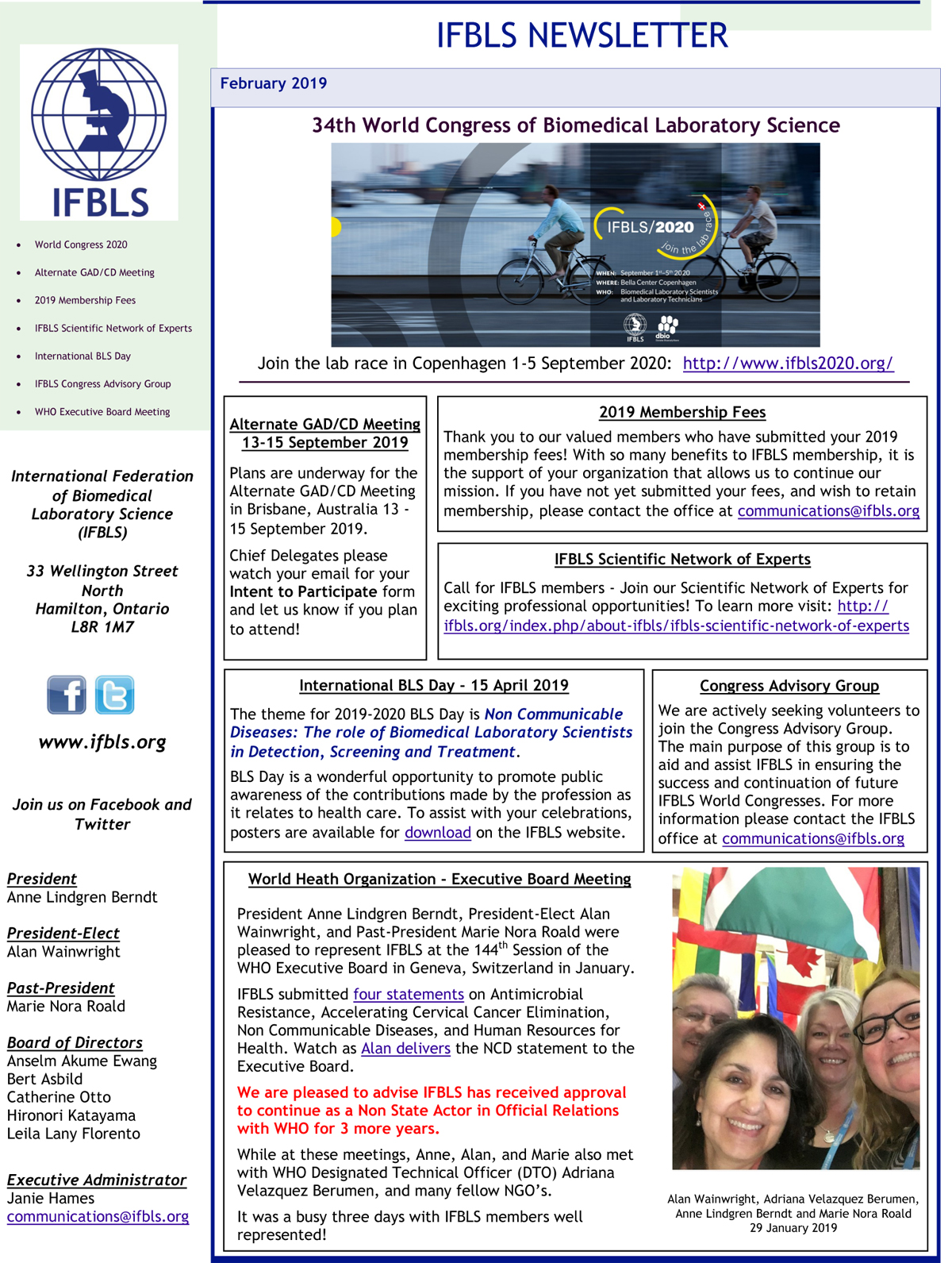 IFBLS Newsletter February 2019