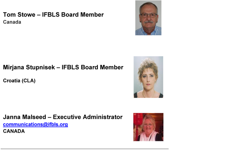 IFBLS Board of Directors 2010 2012 2